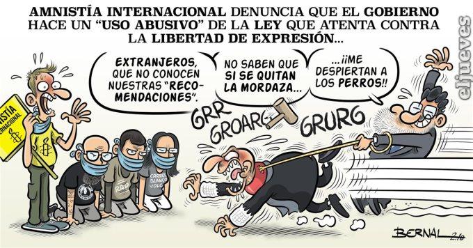 ESPAÑA: En franca competición con Turquía en el recorte delibertades